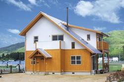 板張りの家